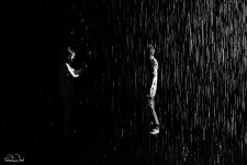 The RainRoom temporary exhibition at the Museum of Modern Art in New York