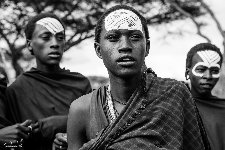 Maasai warriors-to-be near the Serengeti National Park, Tanzania