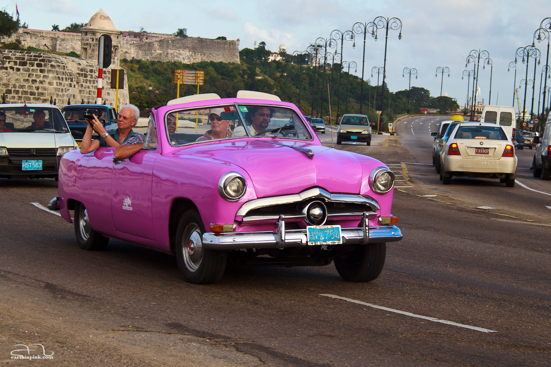 Old cars are still fashionable in Havana, Cuba