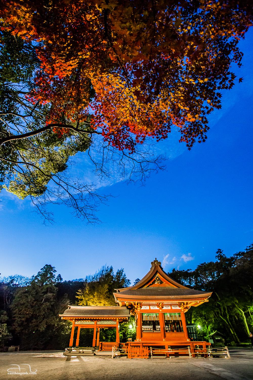 The entrance gate to the Tsurugaoka Hachimangu shrine in Kamakura.