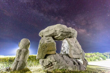 Stone statues in the park very close to our campground reminded us of the magic of Stonehenge, especially with the Milky Way as a backdrop.