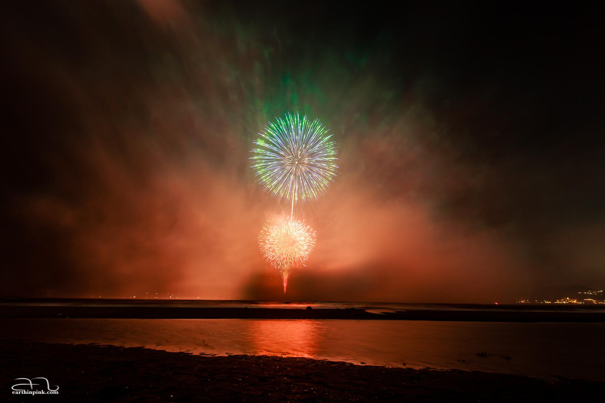 Kamakura Fireworks Festival, July 23rd 2014.