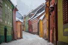 A winter stroll around the historic center of the Sighișoara citadel