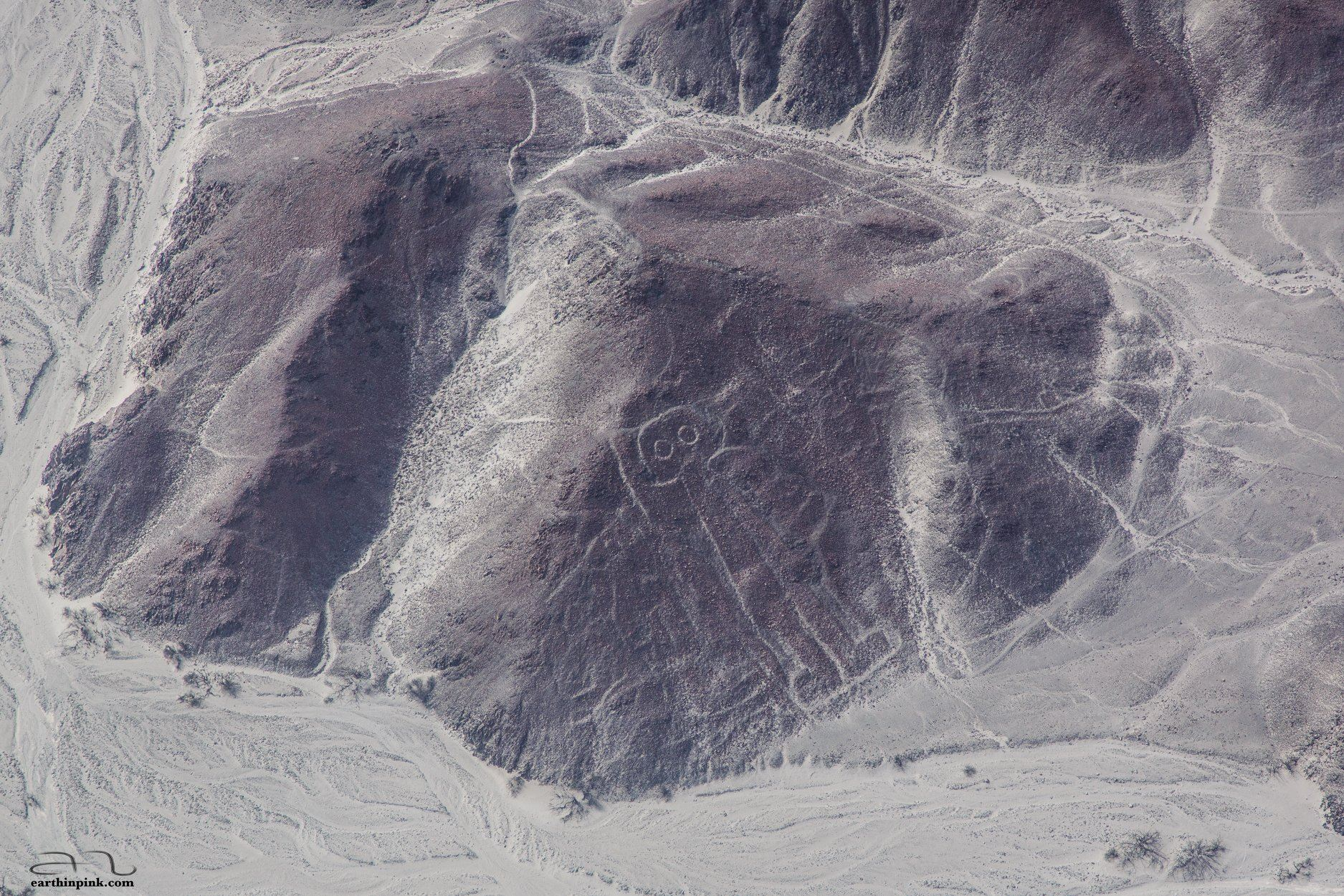 One of the famous Nazca lines drawings, seen from above
